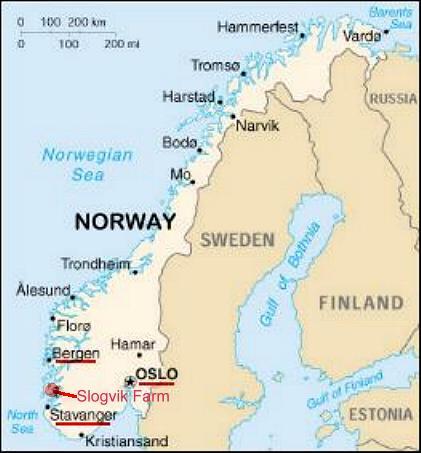 Slogvik Farm Map Index - Norway map haugesund