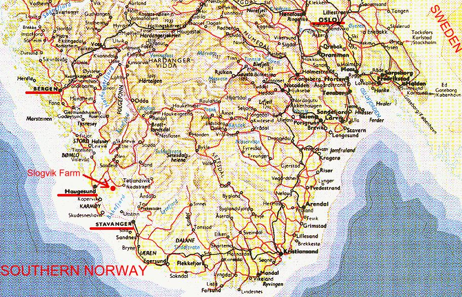 Slogvik Farm Map Index - Norway map stavanger